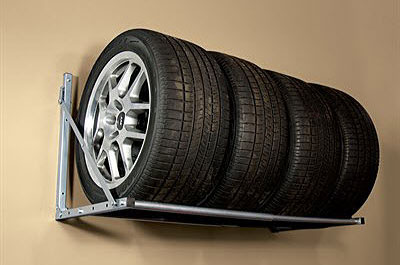 Folding Tire Racks by Patriot Planned Spaces