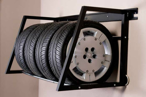 Adjustable Tire Racks by Patriot Planned Spaces