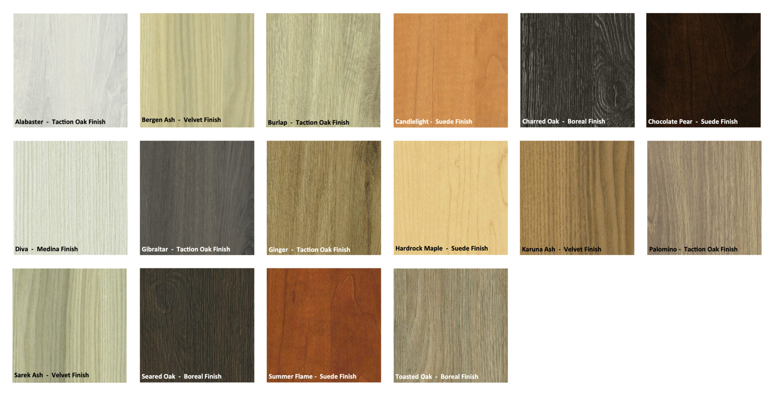 Melamine Door Color Options by Patriot Planned Spaces