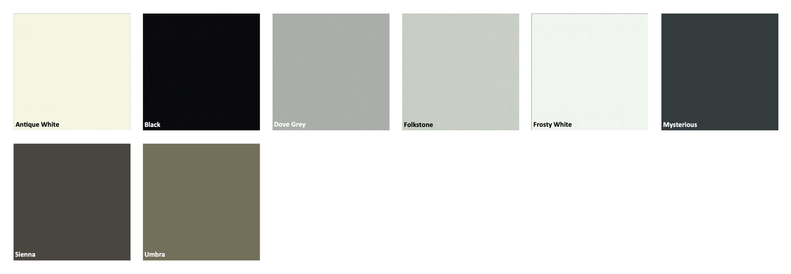 Powder Coated Door Color Options by Patriot Planned Spaces