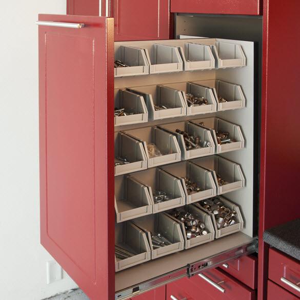 Small Parts Bin Cabinet by RedLine GarageGear
