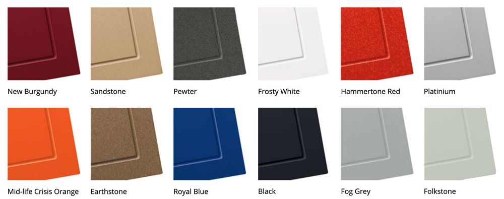 Powder Coating Options by Patriot Planned Spaces